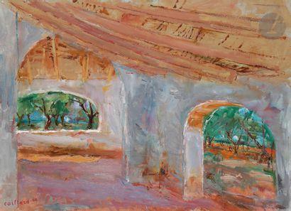Christian CAILLARD (1899-1985) Le Vieux patio...