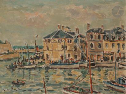 André FRAYE (1887-1963) Belle-Île, le port...