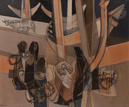 Georges DAYEZ (1907-1991) Femmes de Nazaré,...