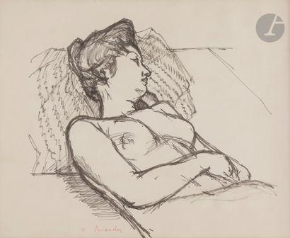 Maurice BRIANCHON (1899-1979) Le Modèle,...