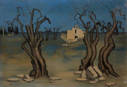 Pierre HENRY (né en 1924) Les Oliviers, 1947...