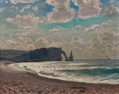 René Liénard DE SAINT-DELIS (1873-1958) Étretat...