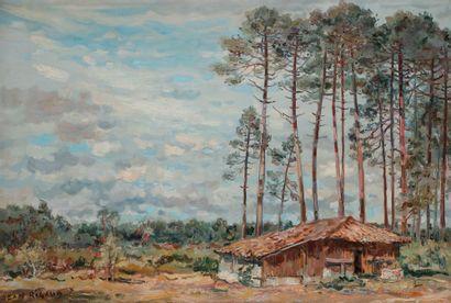 Jean RIGAUD (1912-1999) La Bergerie, Chachon...