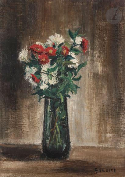 Gaston SEBIRE (1920-2001) Vase de fleurs...
