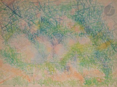 Daniel RAVEL (1915- 2002) Composition, 1959...