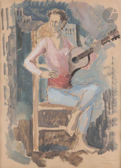 Pedro CREIXAMS (1893-1965) Le Guitariste...