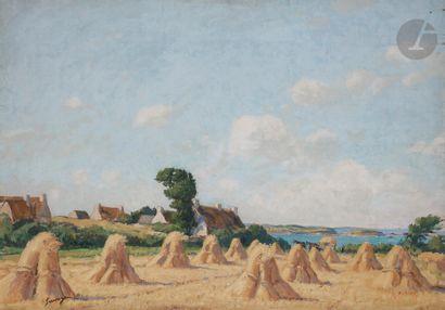 Lucien SEEVAGEN (1887-1959) Paysage breton...