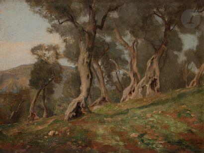 Paul SIEFFERT (1874-1957) Paysage à Tivoli,...