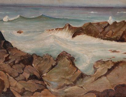 Celso LAGAR (1891-1966) Paysage de bord de...