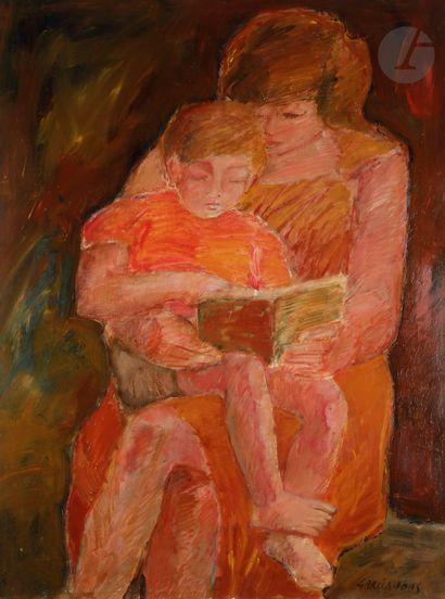 Pierre GARCIA-FONS (1928-2016) Mère et enfant...