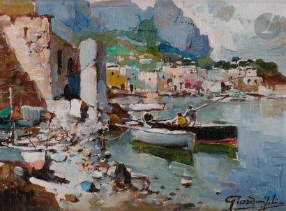 Felice GIORDANO (1880-1964) Positano, le...