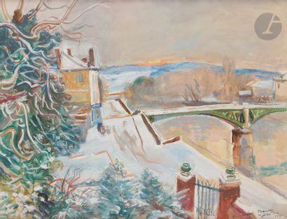 André PLANSON (1898-1981) Le Jardin sous...