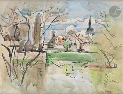 André PLANSON (1898-1981) La Ferté Encre...