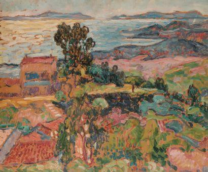 Jean Misceslas PESKE (1870-1949) Côte méditerranéenne...