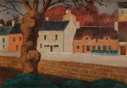 André EVEN (1918-1996) Bretagne, les maisons...