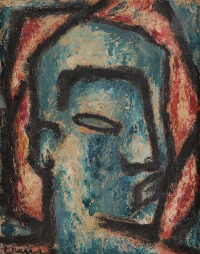 Ginés PARRA (1896-1960) Tête d'homme Huile...
