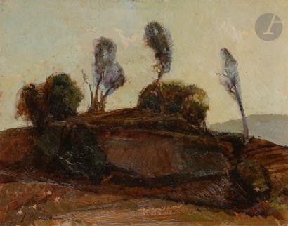 Leonardo CREMONINI (1925-2010) Paysage, 1947...