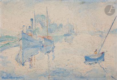 Charles Albert GUELDRY (1884-1973) Bateaux...