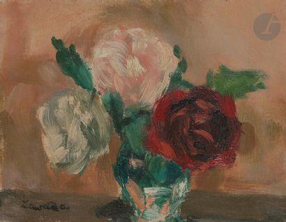 Jean ZAWADO (1891-1982) Bouquet de roses...