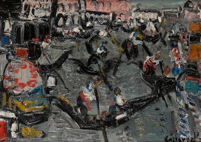 André COTTAVOZ (1922-2012) Les Gondoles,...