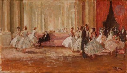 Marcel COSSON (1878-1956) Paris, le foyer...