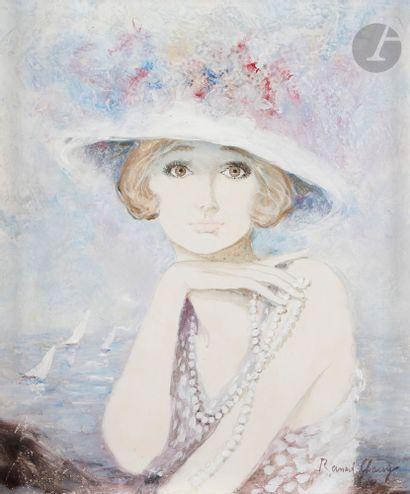 Bernard CHAROY (né en 1931) La Dame au collier...