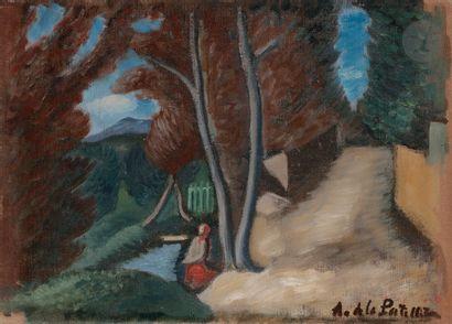 Amédée de LA PATELLIÈRE (1890-1932) Cagnes,...