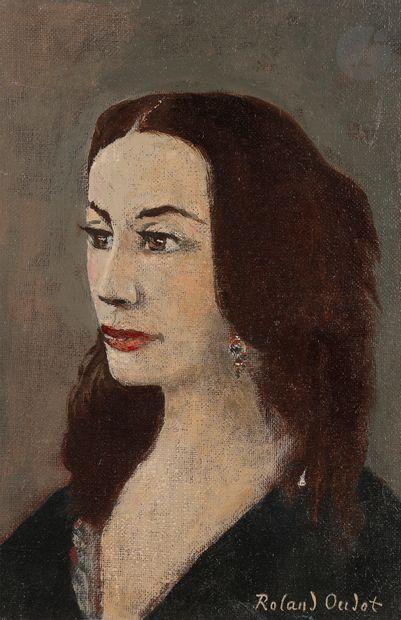 Roland OUDOT (1897-1981) La Dame romantique...