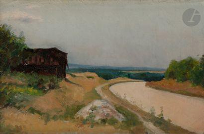 Eugène Robert POUGHÉON (1886-1955) Le Chemin...