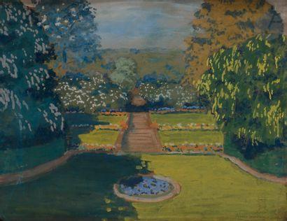 Francis JOURDAIN (1876-1958) Le Parc Gouache....