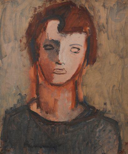 Jean HELION (1904-1987) Portrait de femme,...