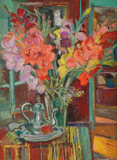 André PLANSON (1898-1981) Les Glaïeuls, 1965...