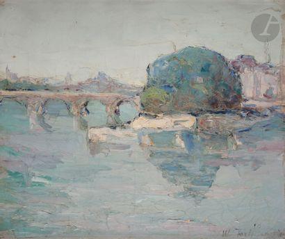 Vladimir TERLIKOWSKI (1873-1951) Le Pont...