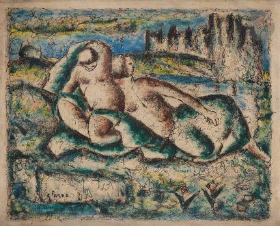 Ginés PARRA (1896-1960) Nus, 1942 Huile sur...
