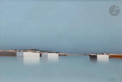 Pierre DOUTRELEAU (né en 1938) Barques Huile...