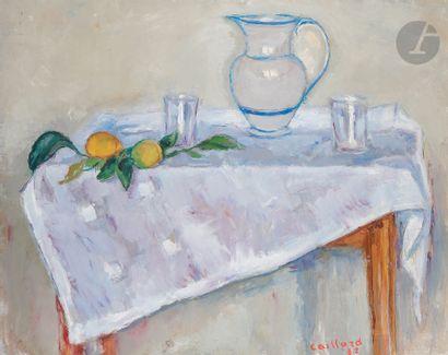 Christian CAILLARD (1899-1985) Vase blanc...