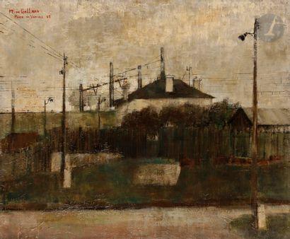 Michel de GALLARD (1921-2007) Porte de Vanves,...