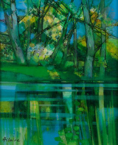 Camille HILAIRE (1916-2004) La Rivière Huile...