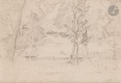 Maurice BRIANCHON (1899-1979) Paysage Encre....