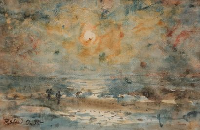 Roland OUDOT (1897-1981) Soleil couchant...