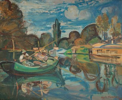 André PLANSON (1898-1981) La Partie de pêche,...