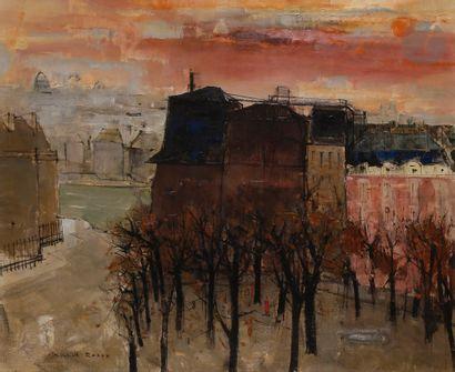 Michel RODDE (1913-2009) Paris, la place...