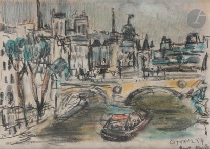 André COTTAVOZ (1922-2012) Paris, le Pont-Marie,...