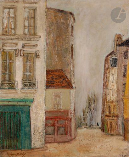 Jean VINAY (1907-1978) Façade d'immeubles...
