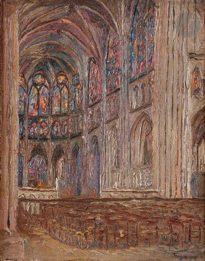 Henri VALENSI (1883-1960) Troyes, les vitraux...