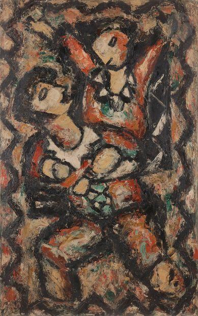 Ginés PARRA (1896-1960) L'Étreinte Huile...
