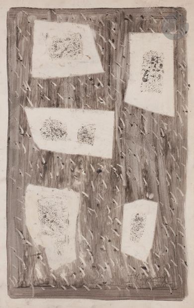 Jean SIGNOVERT (1919-1981) Composition Encre...
