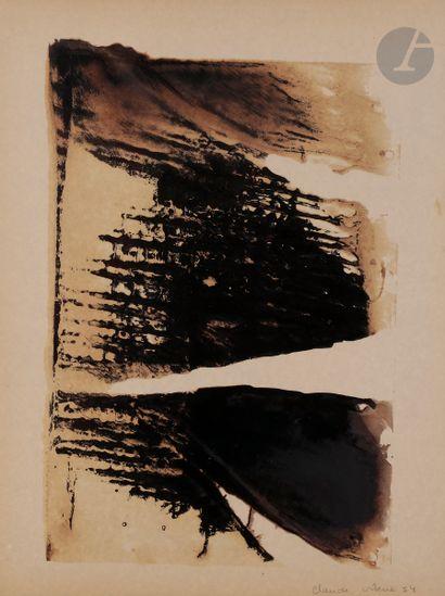 Claude VISEUX (1927-2008) Composition, 1954...