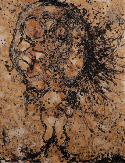 Claude VISEUX (1927-2008) Composition Huile...