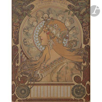 ALPHONSE MUCHA (1860-1939) Zodiaque, le modèle initialement conçu en [1896], la...